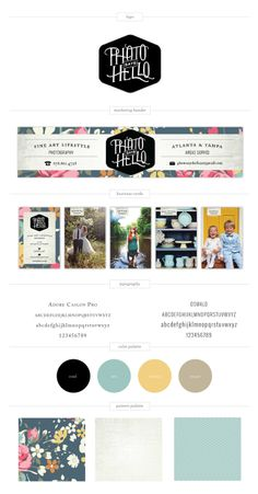 Photo Says Hello Brand Expression // via Grit & Wit // Brand Design for Photographers, Stylists and Event Creatives