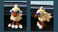 Baby Chocobo (with pattern) by aphid777.deviantart.com on @deviantART