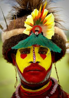 Beauty across cultures: Huli from Papua New Guinea.