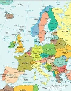 African political map includes north west east and southern map of europe gumiabroncs Images