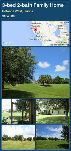 3-bed 2-bath Family Home in Rotonda West, Florida ►$164,900 #PropertyForSaleFlorida http://florida-magic.com/properties/66048-family-home-for-sale-in-rotonda-west-florida-with-3-bedroom-2-bathroom