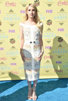 Emma Roberts in Peter Pilotto at the Teen Choice Awards