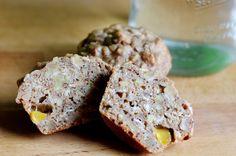 Bite me, I'm vegan: Peach-Oat-Walnut Muffins Vegan Blogs, Scones, Pasta Recipes, Breads, Muffins, Foreseeable Future, Rolls, Peach, Breakfast