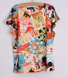 Fashion Women 2017 T Shirt Short Sleeve Eiffel Tower Print tshirts Women Tops T- Shirt Casual Patchwork Top Shirt Women