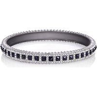 Rebecca Minkoff Black Cubic Zirconia Silver-Plated Bangle Bracelet$148More details