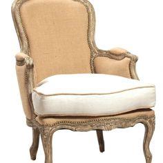 French slipper chair