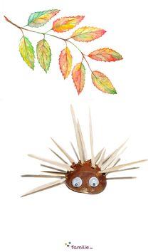 Stacheliger Geselle, unser Kastanien-Igel! Pineapple, Kindergarten, Autumn Leaves, Kids Discipline, Hedgehog, Creative, Pine Apple, Kindergartens