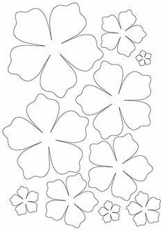 Paper Flower Patterns, Paper Flowers Craft, Paper Crafts Origami, Paper Flower Tutorial, Felt Flowers, Flower Crafts, Diy Flowers, Fabric Flowers, Flower Template