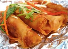 "My recipe, which I got from a Filipino friend, is probably most like the ""Shanghai Lumpia."" Lumpia is traditionally served with sweet and sour dipping sauce,"