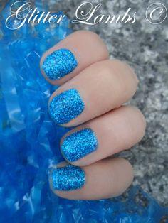 Glitter Lambs: How To Make Your Own Glitter Nail Polish- Blue Glitter Fingernail Polish