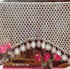 Crochet Knitting Handicraft: Curtains with charts. Lots of beautiful curtains in different language. Crochet Stitches Patterns, Thread Crochet, Knit Or Crochet, Filet Crochet, Crochet Motif, Irish Crochet, Crochet Designs, Crochet Doilies, Crochet Curtain Pattern