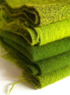 chartreuse blankets ... perfect snuggle companions ...