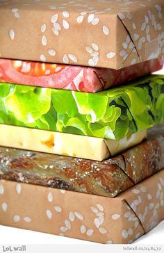 Hamburger wrapping paper!