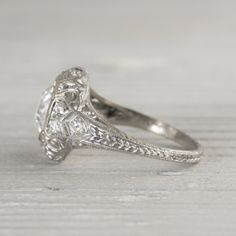 Future ring <3 1.56 Carat Vintage Art Deco Engagement Ring | Erstwhile Jewelry Co.