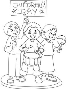 Printable Happy Children's Day Coloring Pages