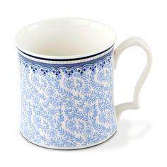 Caneca mix and match chinoiserie bleu em porcelana 390 ml