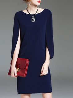 Buy Casual Dresses Elegant Dresses For Women from SWChic at Stylewe. Online Shopping Stylewe Sundress 1 Casual Dresses Date Shift Crew Neck Elegant Paneled Cape Sleeve Dresses, The Best Daily Elegant Dresses. Discover unique designers fashion at stylewe. Boho Midi Dress, Elegant Midi Dresses, Elegant Dresses For Women, Casual Dresses, Fashion Dresses, Cape Sleeve Dress, Sleeve Dresses, Outfit Vestido Negro, Polka Dot Maxi Dresses