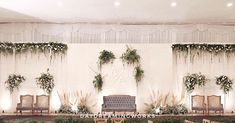Entire look of our Wedding Mainstage yesterday ✨! comment bellow if you want to see for upcoming details. Happy Sunday and keep fresh Wedding Backdrop Design, Wedding Stage Design, Rustic Wedding Backdrops, Wedding Reception Backdrop, Backdrop Decor, Indoor Wedding Decorations, Decor Wedding, Wedding Blog, Minimalist Wedding Reception