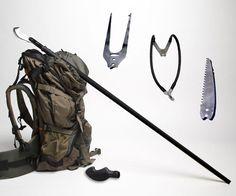 Zubin Axe Survival Staff | DudeIWantThat.com