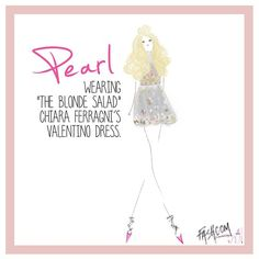 """Pearl wearing @valentino as seen on @chiaraferragni, by DesignsbyBC"