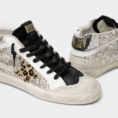 Style: Fashion Item: Sneakers Upper Material: PU Toe: Round Toe Closure Type: Lace-Up Heels: Flats Leopard Sneakers, Retro Sneakers, Wedge Sneakers, Girls Sneakers, Cute Shoes, Me Too Shoes, Superstar, Baskets, Star Wars