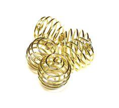 Metaal spiraal 15mm goudkleur ( 10 st ) 25026 | Metalen kralen | Beads Creations Kralen en Sieraden www.beadscreations.nl