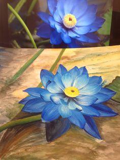 Aquarela, flor de lótus, watercolor, arte, art