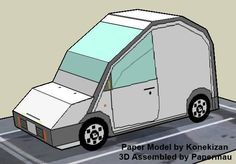 Nissan S Cargo Paper Model In SD Style - by Kozenikan - == -  This easy-to-build paper model of the Nissan S Cargo in Sd style (super deformed style) was created by Japanese designer Kozenikan. You will find many other paper vehicles in his page.