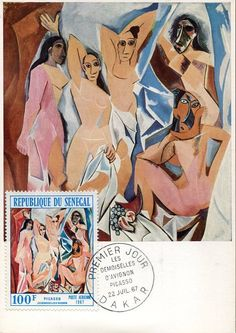 Senegal 7294 Maxicard Painting of Pablo Picasso 1967 Naked Womans   eBay