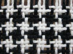 beautiful houndstooth woven fabric