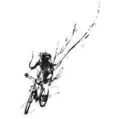 mountain bike splatter