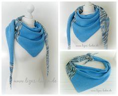 Blaues Sommertuch aus leichter Baumwollmischung http://de.dawanda.com/product/80405823-Gestricktes-Dreieckstuch