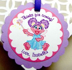 Abby Cadabby party favor tags.