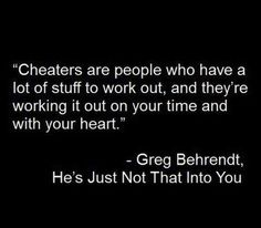 Bottom line every single cheater is a very selfish person. They put their needs, their wants, their lusts, their feelings before anyone elses...before their spouse, before their children, before their family and friends. They tossed everyone elses potential pain aside to get what they wanted in the moment of lust and passion.
