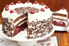 Η τούρτα μπλακ φορεστ είναι η πιο διάσημη γερμανική τούρτα. Σε αυτή τη συνταγή φτιάχνουμε μια παραλλαγή με βύσσινο και σαντιγί που θα ξετρελάνει τους πάντες! Cookbook Recipes, Cooking Recipes, Black Forest, Frozen Yogurt, Chocolate Chip Cookies, Delicious Desserts, Food And Drink, Sweets, Ethnic Recipes