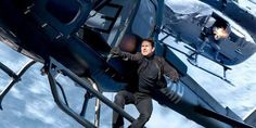 """A skydiving Tom Cruise returns this month for the most up-to-date stunt-packed installment of the Mission: Not possible franchise, which co-star Simon Pegg promises """"ups the bar"""" for motion. Tom Cruise, Ethan Hunt, Vanessa Kirby, Simon Pegg, Rebecca Ferguson, Michelle Monaghan, Alec Baldwin, Two Movies, 2018 Movies"""