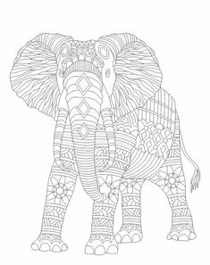 Advanced Coloring Elephant Page