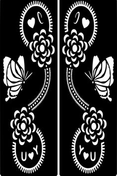 Click on my user name for more Henna Stencils:) HOW TO APPLY: A template of designs, just stick it on the area apply a thin layer of henna over the to...