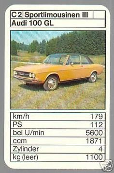 Audi 100 GL Audi 100, Top Trumps, Limousine, Hot Wheels, Vintage Cars, Automobile, Nostalgia, German, Trucks