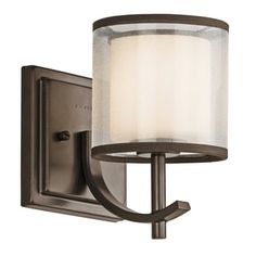 Kichler Lighting Tallie Collection 1-light Mission Bronze Wall Sconce   Overstock.com Shopping - The Best Deals on Sconces & Vanities
