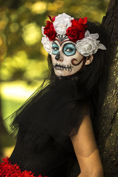 Day of the dead inspired photo shoot, dia de los muertos.