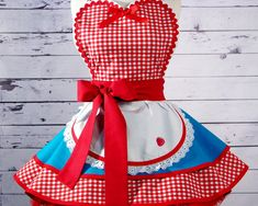 Dots Diner Retro 50s Diner Waitress Apron in Teal - made to order
