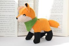 Looking for your next project? You're going to love Felt Fox Plush by designer typing with tea.