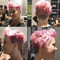 One of our newest students looking RAD with her pink hair! Eeeeeeekkkkkkk I got pinned on Pinterest Yo!!!!!!