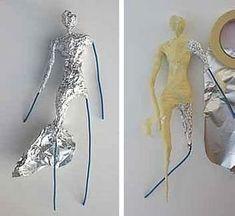 ch - creative card Create a statue structure - architecture and art - Creaclic.ch – creative card create a statue structure, - Paper Mache Clay, Paper Mache Sculpture, Paper Mache Crafts, Wire Crafts, Paper Clay, Clay Art, Sculpture Art, Paper Art, Clay Dolls