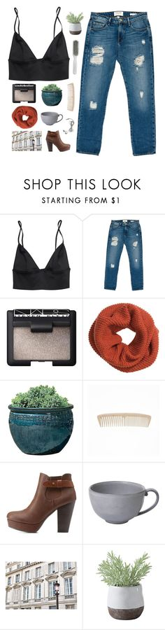 """n/a"" by i-smell-grunge ❤ liked on Polyvore featuring Frame, NARS Cosmetics, H&M, Campania International, Charlotte Russe, Juliska, La Vie en Rose, Torre & Tagus and Kent"