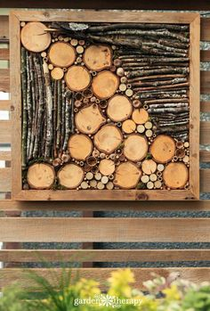Jazz Up the Outdoors with DIY Bug Hotel Fence Art Liven up a fence with bug hotel art The post Jazz Up the Outdoors with DIY Bug Hotel Fence Art appeared first on Wood Ideas. Bug Hotel, Insect Hotel, Fence Art, Diy Fence, Fence Garden, Into The Woods, Four Seasons Art, Deco Nature, Driftwood Crafts