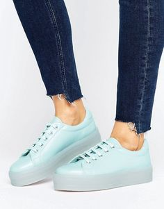 Buy Navy Asos Basic sneakers for woman at best price. Compare Sneakers prices from online stores like Asos - Wossel United States Asos Online Shopping, Online Shopping Clothes, Latest Fashion Clothes, Fashion Online, Flatform Trainers, Sneaker Heels, New Sneakers, Buy Shoes, Shoe Boots