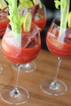 Beef Jerky Bloody Mary. I bet House of Jerky black pepper beef jerky would be perfect with this! :{)