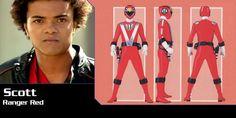 Power Rangers RPM Red Ranger-Scott